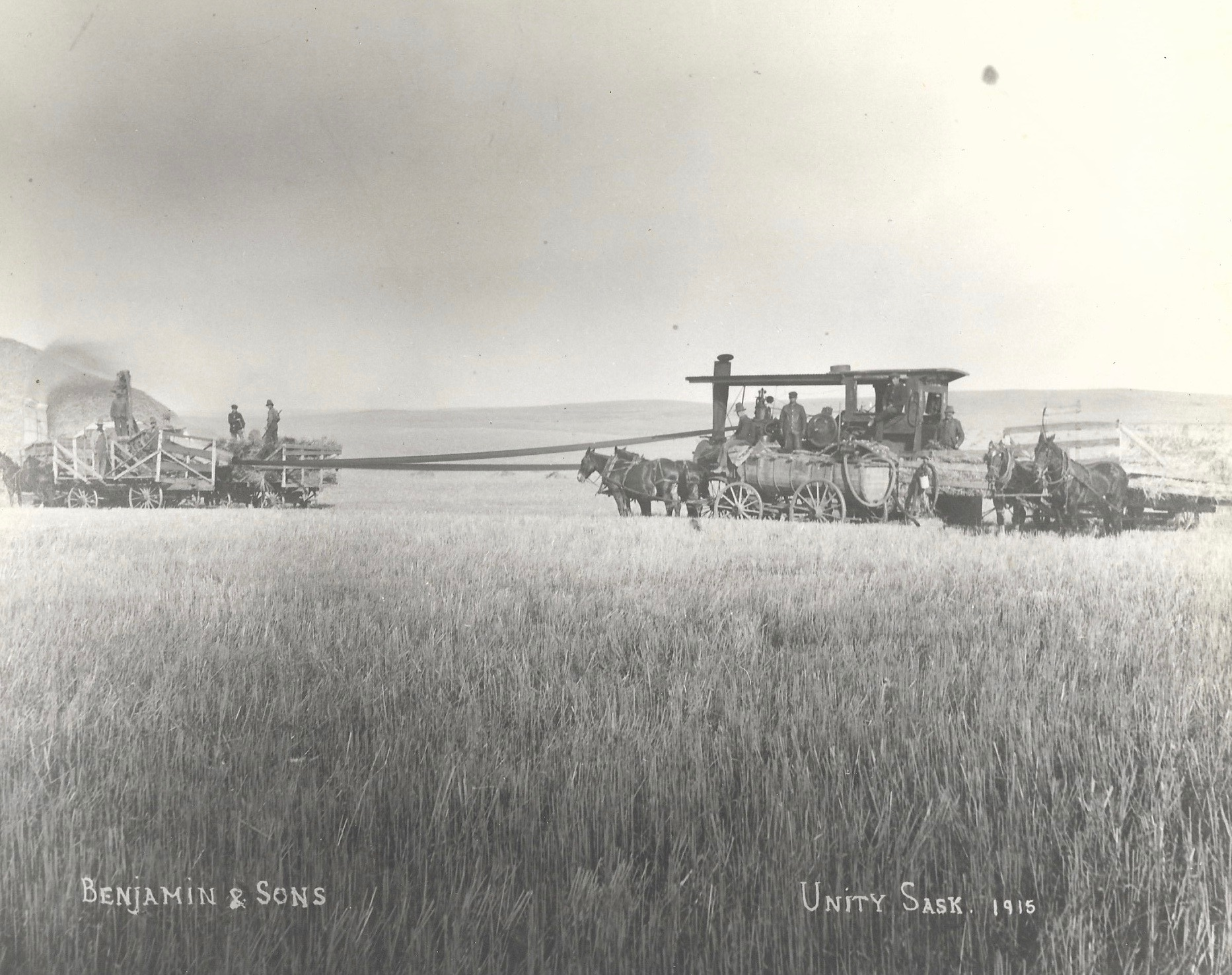 Threshing in Unity Sask 1915