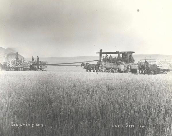 Threshing in Unity Sask 1915