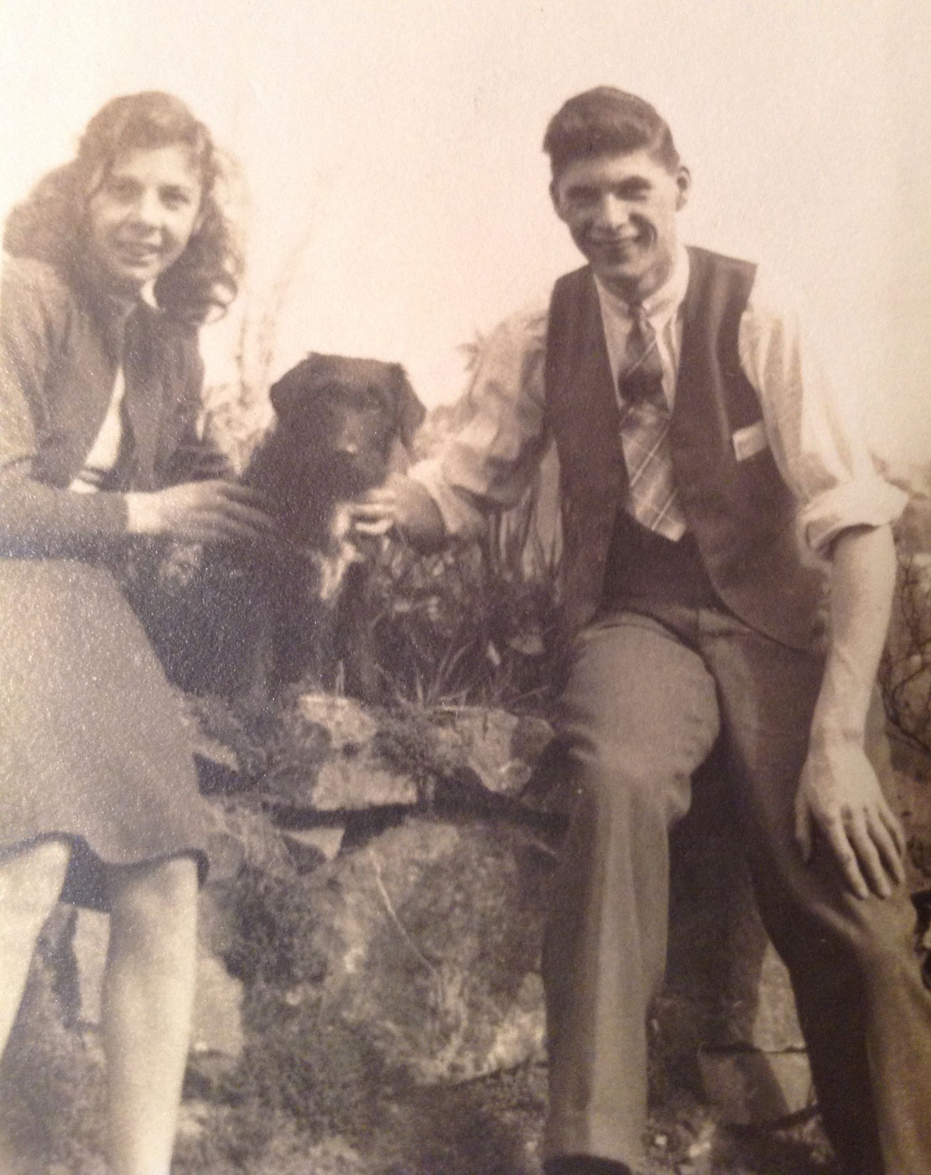 dick warner barbara warner and dog